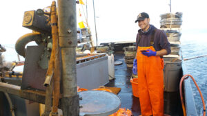 members of the crew on Sound Leader Seafoods