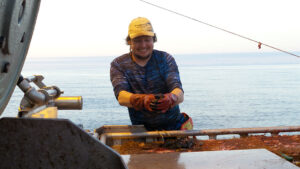 Sound Leader Seafoods crew member Austin Oakley